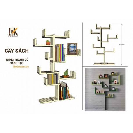 Kệ sách treo tường hình cây