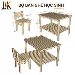 Bộ bàn ghế học sinh