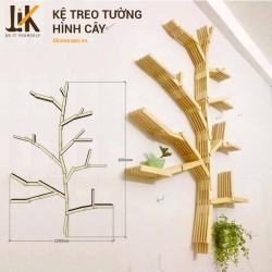 Kệ treo tường hình cây