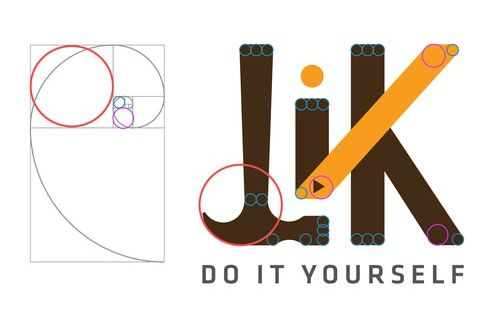 LiK Logo Golden Ratio proportions