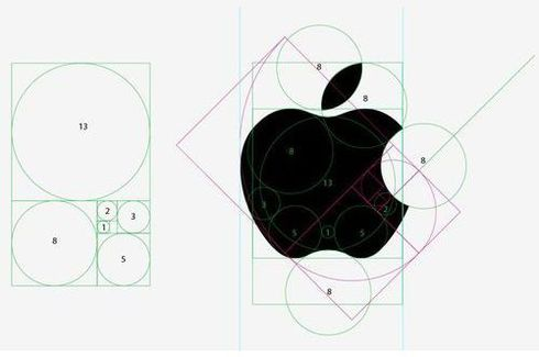Apple Logo Golden Ratio Proportions